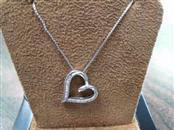 Silver Chain-Diamond Pendant 17 Diamonds .17 Carat T.W. 925 Silver 2.6dwt